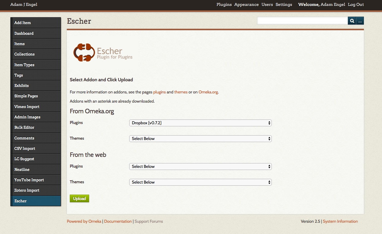 Use the Escher tool to automatically install plugins and themes.